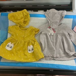 Carters newborn dresses